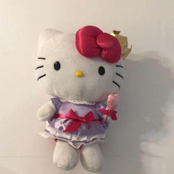 "HELLO KITTY SANRIO 12/"" PLUSH ANIMATED SPINNING MUSICAL CAT NWT"